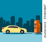 car power stations vector.   Shutterstock .eps vector #554843887