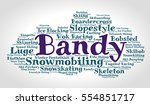 bandy. word cloud  italic font  ... | Shutterstock .eps vector #554851717