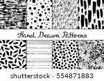 set of 8 seamless texture.... | Shutterstock .eps vector #554871883