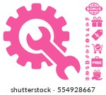 service tools icon with free... | Shutterstock .eps vector #554928667