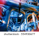 equipment  cables and piping as ... | Shutterstock . vector #554930677