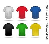 vector set of six t shirts in... | Shutterstock .eps vector #554943457