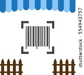barcode icon vector flat design ... | Shutterstock .eps vector #554943757