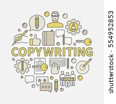 copywriting round colorful...   Shutterstock .eps vector #554952853