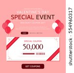 valentine's day event... | Shutterstock .eps vector #554960317