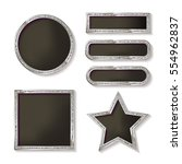 set of glowing retro frames on... | Shutterstock .eps vector #554962837