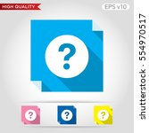 colored icon or button of... | Shutterstock .eps vector #554970517