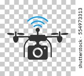 radio camera drone vector icon. ... | Shutterstock .eps vector #554973313