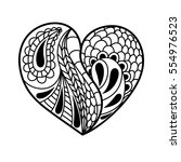 linear heart in the style of... | Shutterstock .eps vector #554976523