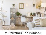 spacious gold apartment for... | Shutterstock . vector #554980663