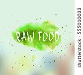 eco  bio  organic  gluten free  ... | Shutterstock .eps vector #555010033