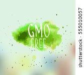 eco  bio  organic  gluten free  ... | Shutterstock .eps vector #555010057