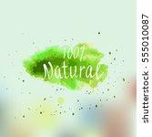 eco  bio  organic  gluten free  ... | Shutterstock .eps vector #555010087