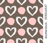 seamless pattern with... | Shutterstock .eps vector #555013537