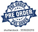 pre order. stamp. sticker. seal.... | Shutterstock .eps vector #555020293