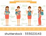 mothers with his babies in mei... | Shutterstock .eps vector #555023143