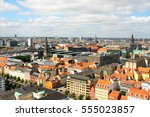 copenhagen city  denmark ... | Shutterstock . vector #555023857