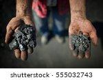 closeup of a worker's hands...   Shutterstock . vector #555032743