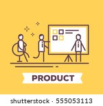 vector business illustration of ... | Shutterstock .eps vector #555053113