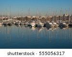 Small photo of Yachts Sailboats at Alimos Marina Greece under clear blue sky