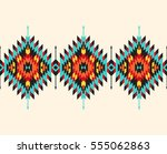 tribal seamless colorful... | Shutterstock .eps vector #555062863