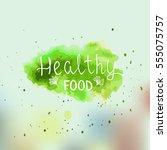 eco  bio  organic  gluten free  ... | Shutterstock .eps vector #555075757