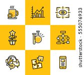 vector collection of line icons ... | Shutterstock .eps vector #555076933