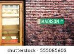 Madison Avenue Street Sign. Th...