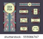 business cards  invitations and ... | Shutterstock .eps vector #555086767
