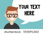 your text here. conceptual... | Shutterstock .eps vector #555091303
