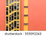 colorful building windows | Shutterstock . vector #555092263