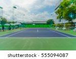 tennis court blur for background | Shutterstock . vector #555094087