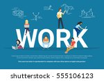 work concept illustration of... | Shutterstock .eps vector #555106123