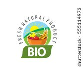 vector logo bio  natural... | Shutterstock .eps vector #555114973