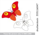 red butterfly to be traced only ... | Shutterstock .eps vector #555116047