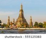 Chao Phraya River And Wat Arun...