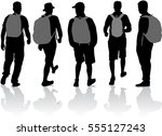 silhouette of a man with... | Shutterstock .eps vector #555127243