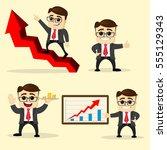 vector illustration. set of... | Shutterstock .eps vector #555129343