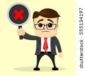 vector businessman or manager... | Shutterstock .eps vector #555134197