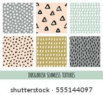 set of seamless vector free... | Shutterstock .eps vector #555144097
