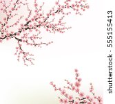Blossoming Cherry Tree. Eps 10...