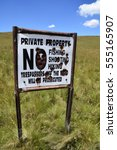private property. no fishing ... | Shutterstock . vector #555165907