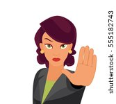 the business lady.woman holding ... | Shutterstock .eps vector #555182743