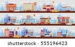 set stock vector illustration... | Shutterstock .eps vector #555196423
