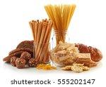 gluten free food. various pasta ... | Shutterstock . vector #555202147