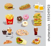 fast food logo | Shutterstock .eps vector #555245923