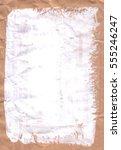 crumpled kraft paper  abstract... | Shutterstock . vector #555246247