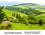 mountain green landscape | Shutterstock . vector #555252007