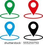 location icon | Shutterstock .eps vector #555253753