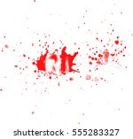 blood drops and splatters on... | Shutterstock .eps vector #555283327